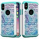 رخيصةأون أغطية أيفون-غطاء من أجل Apple iPhone XS / iPhone XR / iPhone XS Max ضد الصدمات / حجر كريم غطاء خلفي ماندالا نمط / حجر الراين / زهور قاسي الكمبيوتر الشخصي