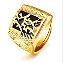 povoljno Prstenje-Muškarci Midi prsten Pečatni prsten 1pc Zlato 18K Gold Kvadrat Moda Party Dnevno Jewelry Retro Graviranog Cool