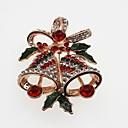 povoljno Broševi-Žene Broševi Klasičan Zvono dame Jednostavan Klasik Umjetno drago kamenje Broš Jewelry Zlato Pink Za Božić