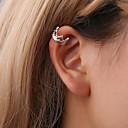 ieftine Cercei-Pentru femei Cercei cu Clip Cătușe pentru urechi Cercei cu spirală Coroane femei Simplu Corean Cute Stil Small cercei Bijuterii Auriu / Negru / Argintiu Pentru Cadou Zilnic Stradă 1 buc