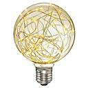 povoljno LED svjetla u traci-1pc 3 W LED filament žarulje 200-300 lm E26 / E27 G95 33 LED zrnca SMD Ukrasno zvjezdani Toplo bijelo 85-265 V / RoHs