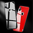 povoljno iPhone maske-Θήκη Za Apple iPhone X / iPhone 8 Plus / iPhone 8 Otporno na trešnju / Zrcalo Stražnja maska Jednobojni Tvrdo Kaljeno staklo