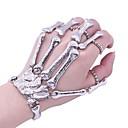 ieftine Ring Bracelets-Pentru femei Ring Bracelets Stil Vintage Craniu Declarație femei La modă Crom Bijuterii brățară Argintiu Pentru Halloween Cadou Costume Cosplay