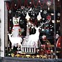 levne Doplňky na okna-Okenní film a samolepky Dekorace Vánoce Prázdninový PVC Půvab