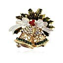 povoljno Broševi-Žene Broševi Klasičan Zvono dame Klasik Umjetno drago kamenje Broš Jewelry Zlato Za Božić