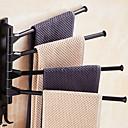 رخيصةأون أدوات الحمام-قضيب المنشفة تصميم جديد معاصر الالومنيوم 1PC شريط 4 منشفة مثبت على الحائط