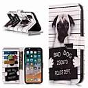 رخيصةأون أغطية أيفون-غطاء من أجل Apple iPhone XS / iPhone XR / iPhone XS Max محفظة / حامل البطاقات / مع حامل غطاء كامل للجسم كلب قاسي جلد PU