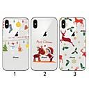 رخيصةأون أدوات الحمام-غطاء من أجل Apple iPhone XS / iPhone XR / iPhone XS Max نحيف جداً / شفاف / نموذج غطاء خلفي عيد الميلاد ناعم TPU