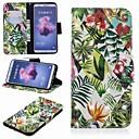 رخيصةأون Huawei أغطية / كفرات-غطاء من أجل Huawei Huawei P20 / Huawei P20 Pro / Huawei P20 lite محفظة / حامل البطاقات / مع حامل غطاء كامل للجسم النباتات قاسي جلد PU / P10 Lite