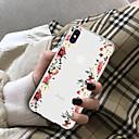 رخيصةأون واقيات شاشات أيفون 8 بلس-غطاء من أجل Apple iPhone X / iPhone 8 Plus / iPhone 8 شفاف غطاء خلفي زهور ناعم TPU