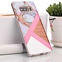 رخيصةأون أضواء السيارة الداخلية-غطاء من أجل Samsung Galaxy Note 9 / Note 8 IMD / نموذج غطاء خلفي حجر كريم ناعم TPU