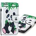 رخيصةأون أغطية أيفون-غطاء من أجل Apple iPhone XS / iPhone XR / iPhone XS Max محفظة / حامل البطاقات / مع حامل غطاء كامل للجسم باندا قاسي جلد PU