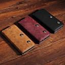رخيصةأون ملصقات ديكور-غطاء من أجل Samsung Galaxy Note 9 محفظة / حامل البطاقات / مع حامل غطاء كامل للجسم لون سادة / قرميدة قاسي جلد PU