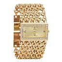 ieftine Ceasuri Damă-Pentru femei Ceas Brățară Diamond Watch ceas de aur Quartz Argint / Auriu Calendar Cronograf Gravură scobită Analog femei Lux Modă - Auriu Argintiu Un an Durată de Viaţă Baterie
