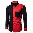 رخيصةأون سترات و بدلات الرجال-رجالي رياضي Active / أساسي قطن قميص, ألوان متناوبة / كم طويل