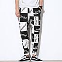 povoljno Chinos-Muškarci Izlasci Slim Sportske hlače Hlače - Color block / Slovo Crn XXXL XXXXL XXXXXL