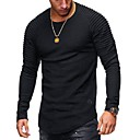 povoljno Men's Winter Coats-Majica s rukavima Muškarci - Osnovni Izlasci Jednobojni Okrugli izrez Crn / Dugih rukava