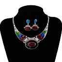 povoljno Naušnice-Žene Dragi kamen Viseće naušnice Ogrlica Vintage Style dame Stilski Jedinstven dizajn Ogroman Naušnice Jewelry Crn / Duga / Plava Za Party Dar