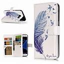 رخيصةأون حافظات / جرابات هواتف جالكسي S-غطاء من أجل Samsung Galaxy S9 / S9 Plus / S8 Plus محفظة / حامل البطاقات / مع حامل غطاء كامل للجسم الريش قاسي جلد PU