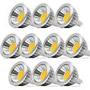 ieftine Spoturi LED-zdm 10pcs dimensiuni 5w mr16 cob 400-450 lm alb cald / alb rece / alb natural natural 40 grade lumina reflectoarelor lumina reflectoarelor ac / dc12v