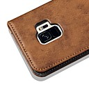 رخيصةأون أزهار اصطناعية-غطاء من أجل Samsung Galaxy S9 / S9 Plus / S8 Plus محفظة / حامل البطاقات / مع حامل غطاء كامل للجسم لون سادة / قرميدة قاسي جلد PU