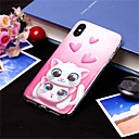 povoljno Maske/futrole za Galaxy S seriju-Θήκη Za Apple iPhone XS / iPhone XR / iPhone XS Max Uzorak Stražnja maska Mačka / Srce Mekano TPU