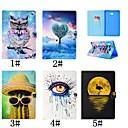 voordelige Samsung-hoes voor tablets-hoesje Voor Samsung Galaxy Tab 4 10.1 / Tab S3 9.7 / Tab A 9.7 Kaarthouder / met standaard / Flip Volledig hoesje Flamingo / Olieverfschilderij / Uil Hard PU-nahka