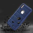 رخيصةأون أغطية أيفون-غطاء من أجل Apple iPhone X / iPhone 8 Plus / iPhone 8 ضد الصدمات / مع حامل غطاء خلفي لون سادة قاسي TPU