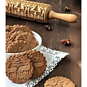 cheap Bakeware-1pc Wood Christmas New Arrival For Cookie Animal Rolling Pin Bakeware tools