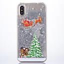 رخيصةأون أغطية أيفون-غطاء من أجل Apple iPhone X بريق لماع غطاء خلفي عيد الميلاد قاسي بلاستيك