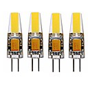 povoljno LED svjetla s dvije iglice-SENCART 4kom 4 W LED svjetla s dvije iglice 350 lm G4 T 1 LED zrnca COB Ukrasno Toplo bijelo Bijela 12 V