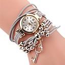 ieftine Fâșii Becurie LED-Pentru femei Ceas de Mână ceasul cu ceas Quartz Piele PU Matlasată Negru / Alb / Albastru Ceas Casual Adorabil Analog femei Modă Elegant - Maro Rosu Albastru Un an Durată de Viaţă Baterie