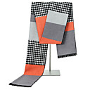 povoljno Zimski modni dodaci-Muškarci Color block Drapirano Pravokutnik