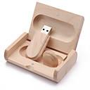 رخيصةأون القلائد-16GB محرك فلاش USB قرص أوسب USB 2.0 خشبي غير منتظم مخزن لاسلكي