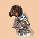 رخيصةأون ملابس وإكسسوارات الكلاب-كلاب قطط معطف المطر ملابس الكلاب أبيض فوشيا أزرق كوستيوم هاسكي بودل PVC ألوان متناوبة بسيط العادي مقاومة الماء S M L
