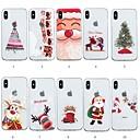 voordelige Galaxy S-serie hoesjes / covers-hoesje Voor Apple iPhone XS / iPhone XR / iPhone XS Max Patroon Achterkant Kerstmis Zacht TPU
