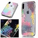 رخيصةأون أغطية أيفون-غطاء من أجل Apple iPhone XS / iPhone XR / iPhone XS Max IMD / شفاف / نموذج غطاء خلفي زهور ناعم TPU
