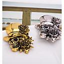 رخيصةأون بروشات-رجالي دبابيس 3D جمجمة سيدات بانغك بروش مجوهرات ذهبي فضي من أجل الهالووين