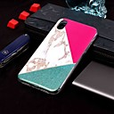 رخيصةأون أغطية أيفون-غطاء من أجل Apple iPhone XS / iPhone XR / iPhone XS Max IMD / نموذج غطاء خلفي حجر كريم ناعم TPU