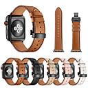 voordelige Horlogebandjes-horlogeband voor Apple horloge serie 5/4/3/2/1 appel vlinder gesp lederen polsband iwatch band voor 38mm 40mm 42mm 44mm