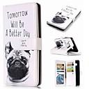 voordelige Galaxy Note 5 Hoesjes / covers-hoesje Voor Samsung Galaxy Note 9 / Note 8 / Note 5 Portemonnee / Kaarthouder / met standaard Volledig hoesje Hond Hard PU-nahka