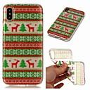 رخيصةأون أغطية أيفون-غطاء من أجل Apple iPhone XS / iPhone XR / iPhone XS Max شفاف / نموذج غطاء خلفي حيوان / عيد الميلاد ناعم TPU