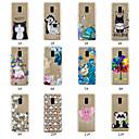 رخيصةأون حافظات / جرابات هواتف جالكسي A-غطاء من أجل Samsung Galaxy A5(2018) / A6 (2018) / A6+ (2018) مطرز / نموذج غطاء خلفي حيوان / شجرة / زهور ناعم TPU