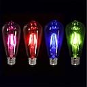 economico Luci interni auto-4pcs 4 W Lampadine LED a incandescenza 360 lm E26 / E27 ST64 4 Perline LED COB Feste Decorativo Vacanze Rosso Blu Verde 220-240 V / RoHs