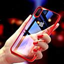 رخيصةأون أغطية أيفون-غطاء من أجل Apple iPhone XS / iPhone XR / iPhone XS Max نحيف جداً / شفاف غطاء خلفي لون سادة قاسي TPU
