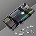 رخيصةأون أغطية أيفون-غطاء من أجل Apple iPhone XS / iPhone XR / iPhone XS Max نحيف جداً / شفاف غطاء خلفي لون سادة قاسي زجاج مقوى