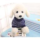 رخيصةأون ملابس وإكسسوارات الكلاب-كلاب قطط كنزة الشتاء ملابس الكلاب أزرق داكن كوستيوم كلب صيد شيواوا منسوجات ألوان متناوبة بسيط العادي وقت الفراغ S M L