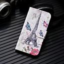 رخيصةأون أغطية أيفون-غطاء من أجل Apple iPhone XS / iPhone XR / iPhone XS Max محفظة / حامل البطاقات / مع حامل غطاء كامل للجسم منظر / برج ايفل قاسي جلد PU
