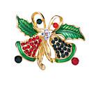 povoljno Broševi-Žene Kubični Zirconia Broševi Klasičan Kostimi Djeda Mraza Kreativan Klasik Crtići Moda Broš Jewelry Zelen Za Božić Dnevno