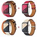 رخيصةأون فرشاة اليد و ممسحة-حزام إلى أبل ووتش سلسلة 5/4/3/2/1 Apple عقدة جلدية جلد طبيعي شريط المعصم